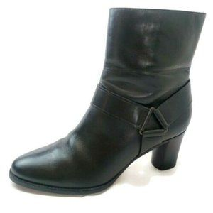 Cole Haan Calixta Leather Side Zip Ankle Boots